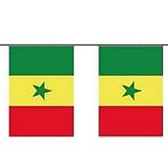 Senegal Länderkette 3 m - 10 Flaggen á 15x22,5cm