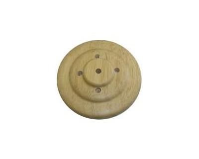 Tischsockel Fahnenaufsteller Holz - 5 Löcher - für Stockfahnen 30x45cm