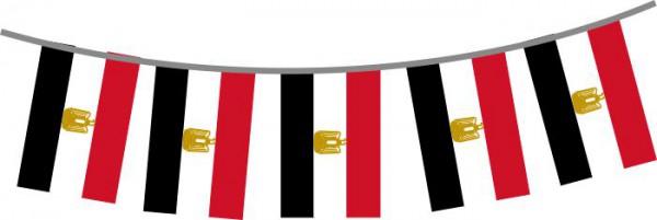 Ägypten Länderkette 3 m - 10 Flaggen á 15x22,5cm