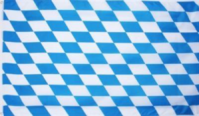 Bayern Hohlsaumflagge 60x90 cm Raute weiss/blau