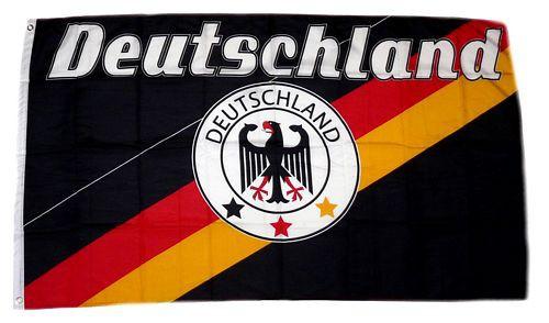 Deutschland Fan Flagge 90 x 150 cm Nr 9 - 3 Sterne