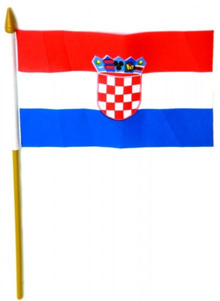 Kroatien Tischfahne 10x15cm