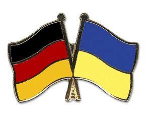 Deutschland-Ukraine Freundschaftspin Flaggenpin
