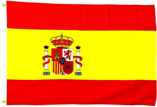 Spanien mit Wappen Fahne/Flagge - 60cm x 90cm