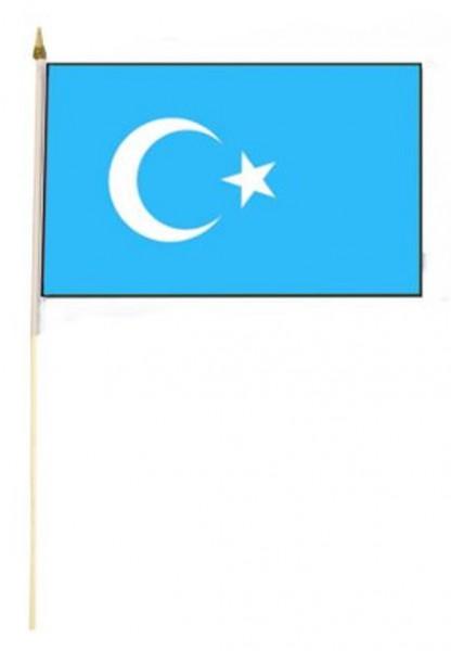 Ostturkistan Stockfahne 30cm x 45 cm