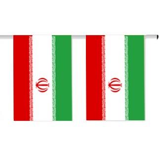 Iran Länderkette 3 m - 10 Flaggen á 15x22,5cm