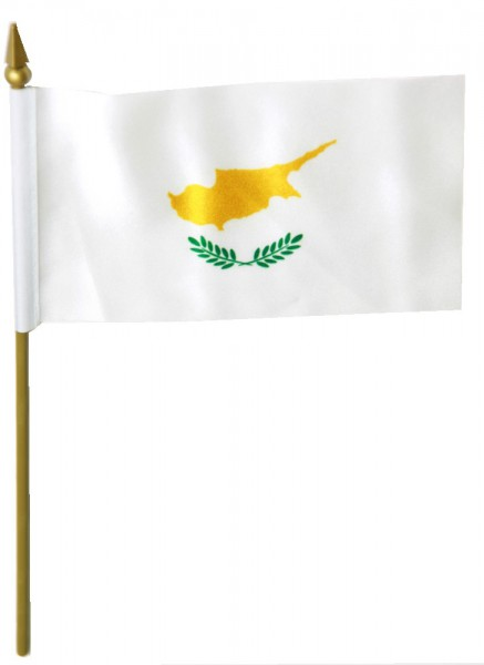 Zypern Tischfahne 10x15cm