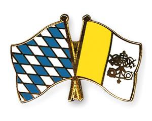 Bayern-Vatikan Freundschaftspin Flaggenpin