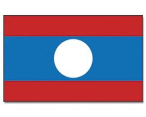 Laos Stockfahne 30cm x 45 cm