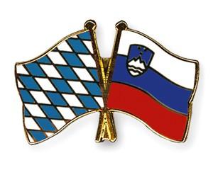 Bayern-Slowenien Freundschaftspin Flaggenpin