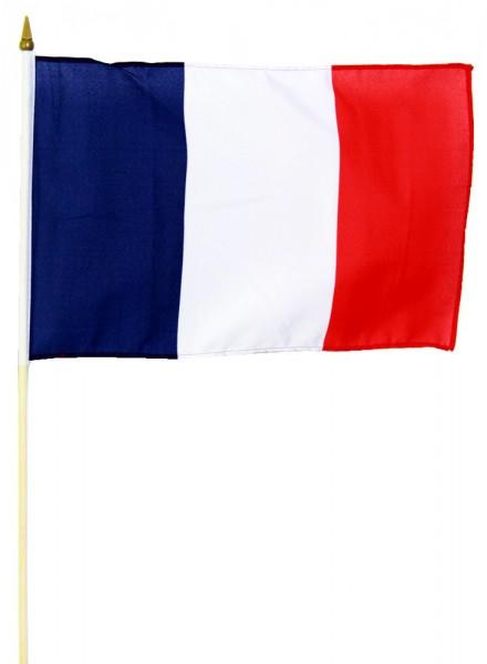 Frankreich Stockflagge 30x45 cm