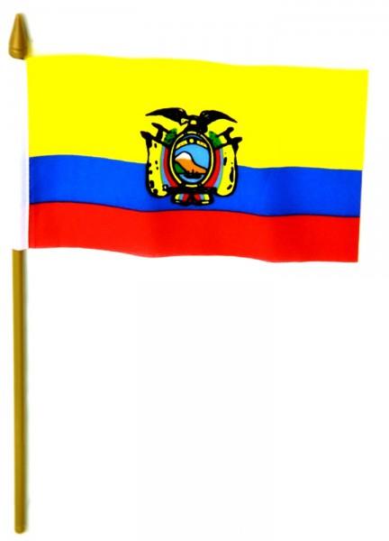 Ecuador Tischfahne 10x15cm