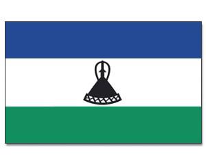 Lesotho Stockfahne 30 x 45 cm