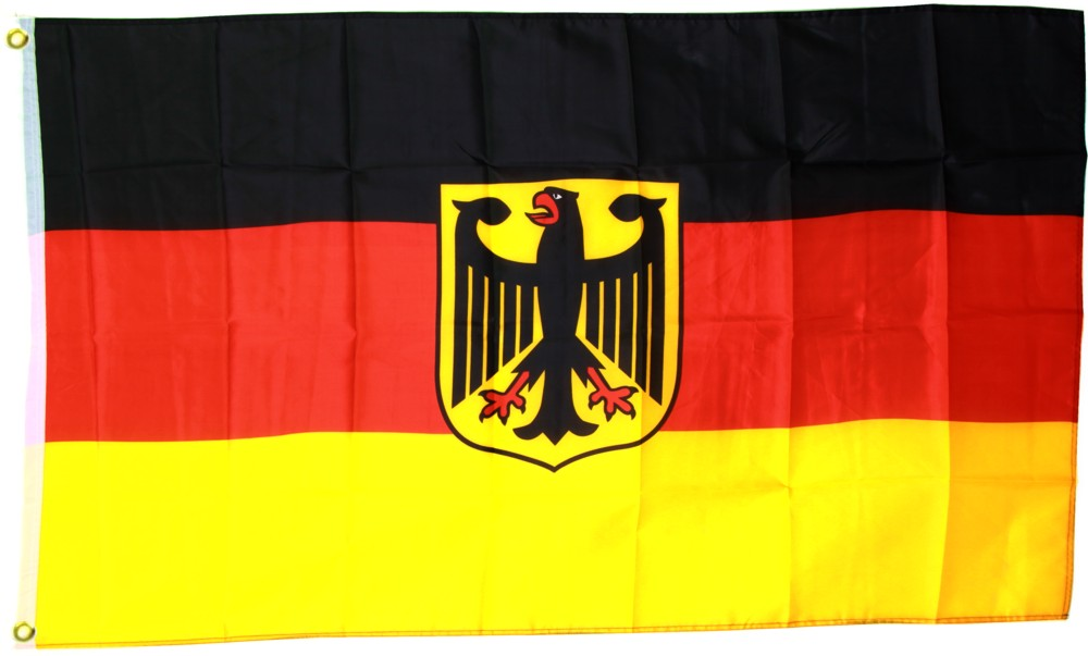 deutschland flagge mit adler 150x250cm 150 x 250 cm. Black Bedroom Furniture Sets. Home Design Ideas