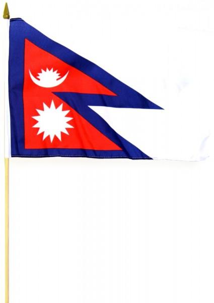 Nepal Stockfahne 30cm x 45 cm