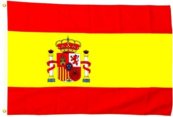Spanien mit Wappen 150cm x 250cm