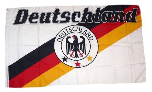 Deutschland Fan Flagge 90 x 150 cm Nr 8 - 3 Sterne