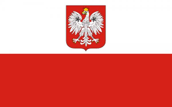 Polenflagge mit Adler 90 x 150 cm
