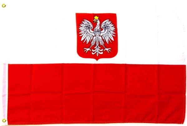 Polen mit Adler Fahne/Flagge - 60cm x 90cm