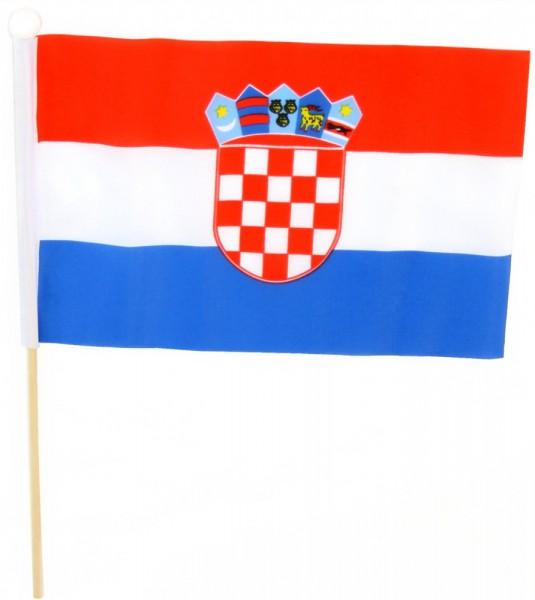 Kroatien Tischfahne 22,5x15cm