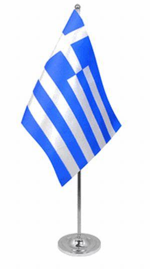 Griechenland Tischfahne 22,5x15cm Satin
