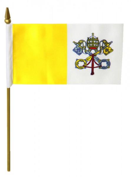 Vatikan Tischfahne 10x15cm