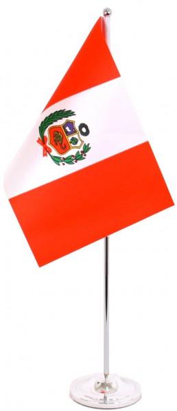 Peru Tischfahne 22,5x15cm Satin