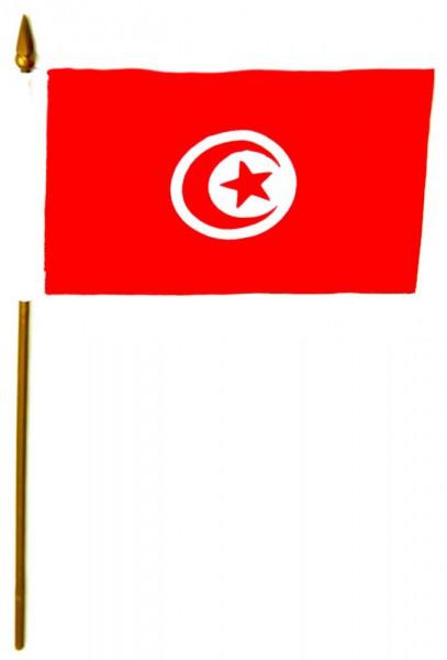 Tunesien Tischfahne 10x15cm