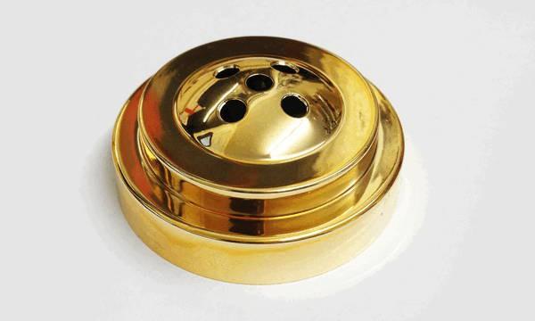Tischsockel Gold für 5 Tischfahnen 10x15cm und 22x15cm