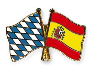 Bayern-Spanien Freundschaftspin Flaggenpin