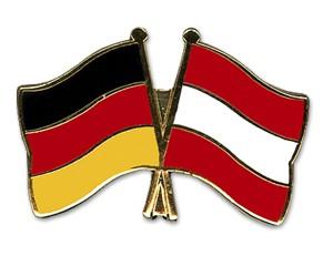 Deutschland-Österreich Freundschaftpin Flaggenpin