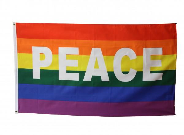 Regenbogenfahne mit PEACE - 90x150cm