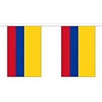 Kolumbien Länderkette 3 m - 10 Flaggen á 15x22,5cm