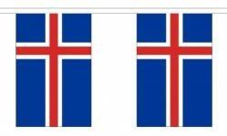 Island Länderkette 3 m - 10 Flaggen á 15x22,5cm