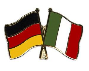 Deutschland-Italien Freundschaftspin Flaggenpin