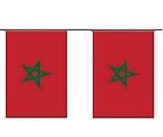 Marokko Länderkette 3 m - 10 Flaggen á 15x22,5cm