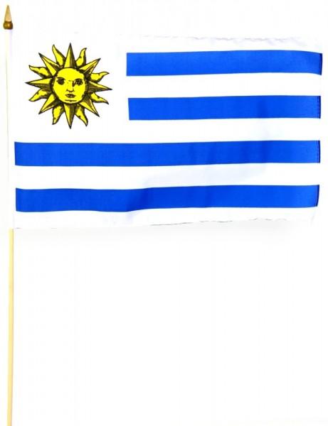 Uruguay Stockfahne 30cm x 45 cm