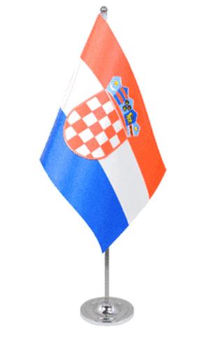 Kroatien Tischfahne 22,5x15cm Satin