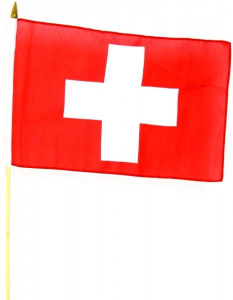 Schweiz Stockfahne 30 x 45 cm