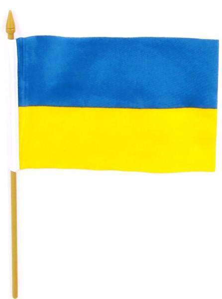 Ukraine Tischfahne 10x15cm