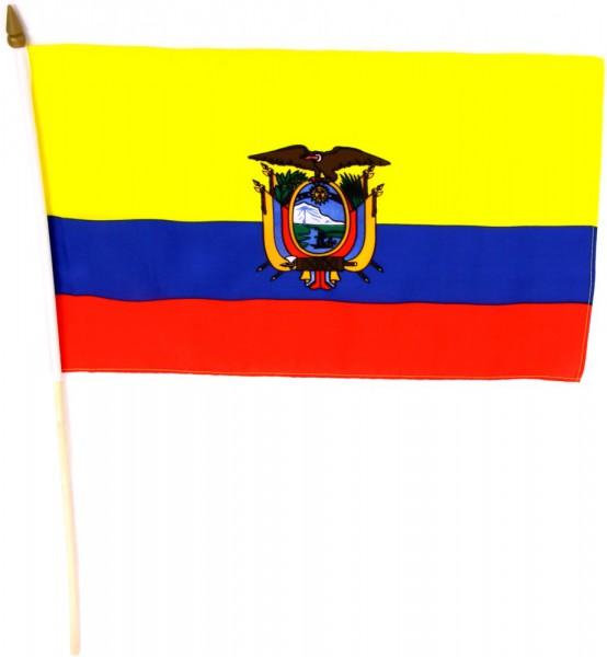 Ecuador Stockfahne 30cm x 45cm