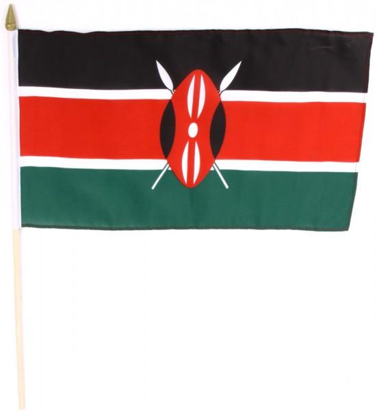 Kenia Stockfahne