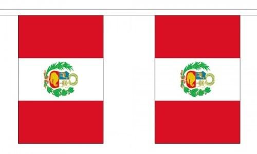 Peru Länderkette 3 m - 10 Flaggen á 15x22,5cm