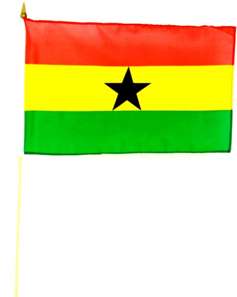 Ghana Stockfahne 30 x 45 cm