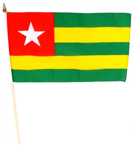 Togo Stockfahne 30cm x 45cm