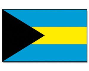 Bahamas Stockfahne 30cm x 45 cm