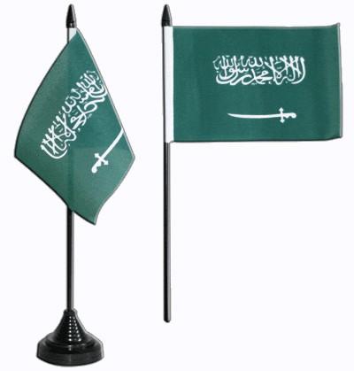 Saudi Arabien Tischfahne 10x15cm