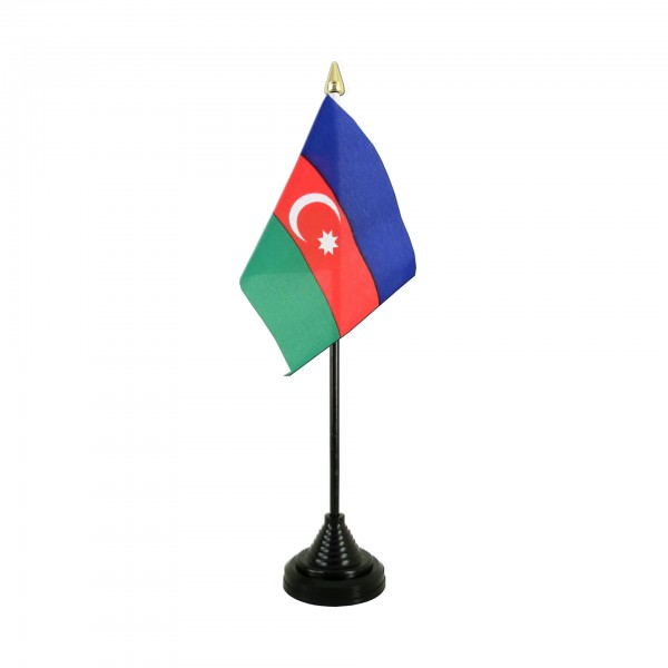 Aserbaidschan Tischfahne 10x15cm