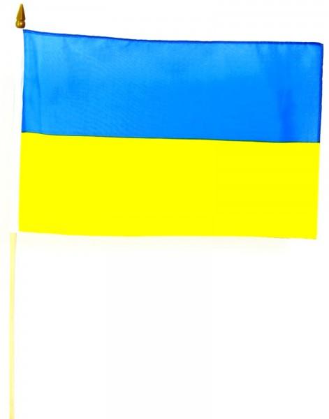 Ukraine Stockfahne 30cm x 45 cm
