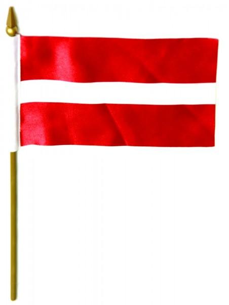 Lettland Tischfahne 10x15cm